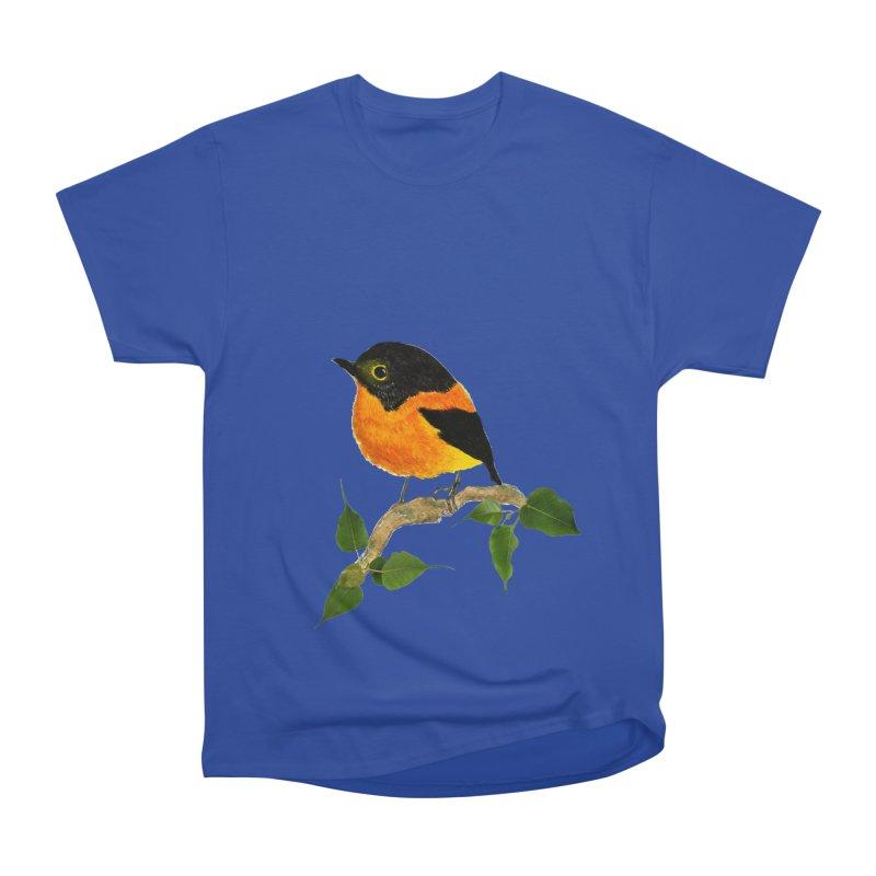 Orange FlyCatcher Women's Heavyweight Unisex T-Shirt by Hue Hub