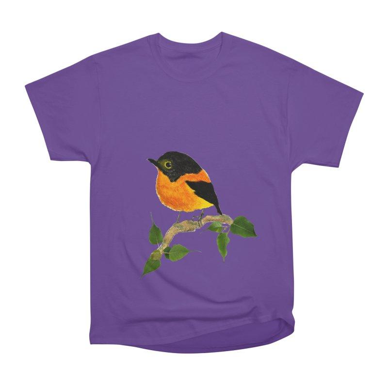 Orange FlyCatcher Men's Heavyweight T-Shirt by Hue Hub