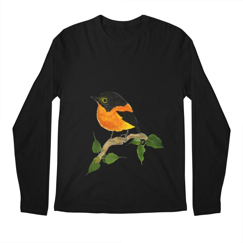 Orange FlyCatcher Men's Regular Longsleeve T-Shirt by Hue Hub