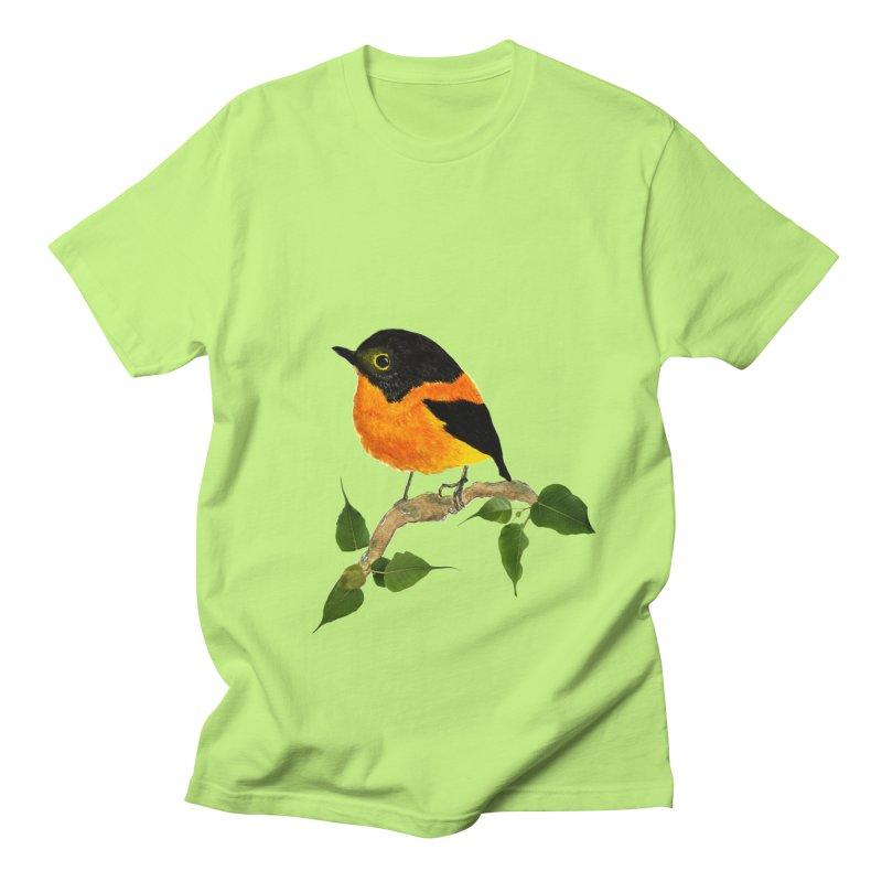Orange FlyCatcher Men's Regular T-Shirt by Hue Hub