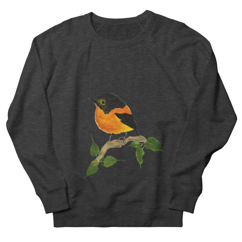 Orange FlyCatcher Women's French Terry Sweatshirt by Hue Hub