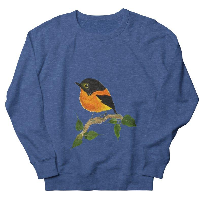 Orange FlyCatcher Men's French Terry Sweatshirt by Hue Hub