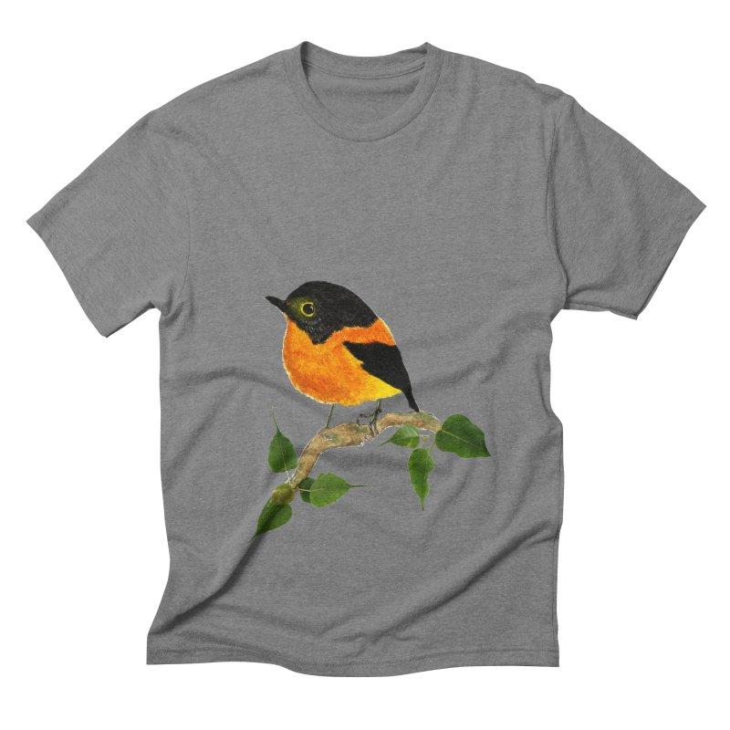 Orange FlyCatcher Men's Triblend T-Shirt by Hue Hub