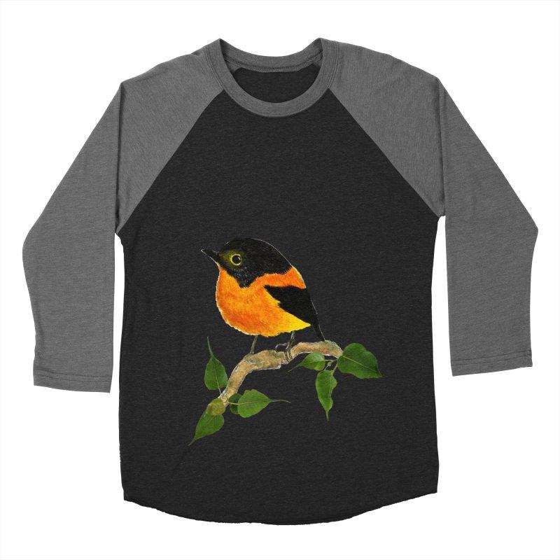 Orange FlyCatcher Women's Baseball Triblend Longsleeve T-Shirt by Hue Hub