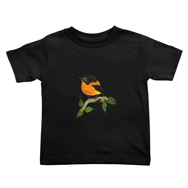 Orange FlyCatcher Kids Toddler T-Shirt by Hue Hub