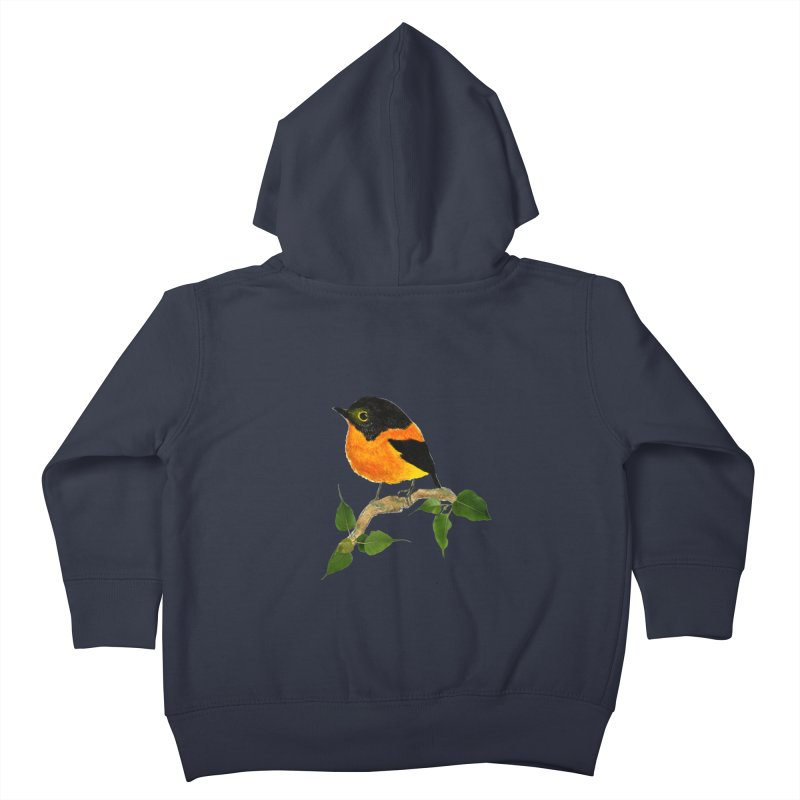 Orange FlyCatcher Kids Toddler Zip-Up Hoody by Hue Hub