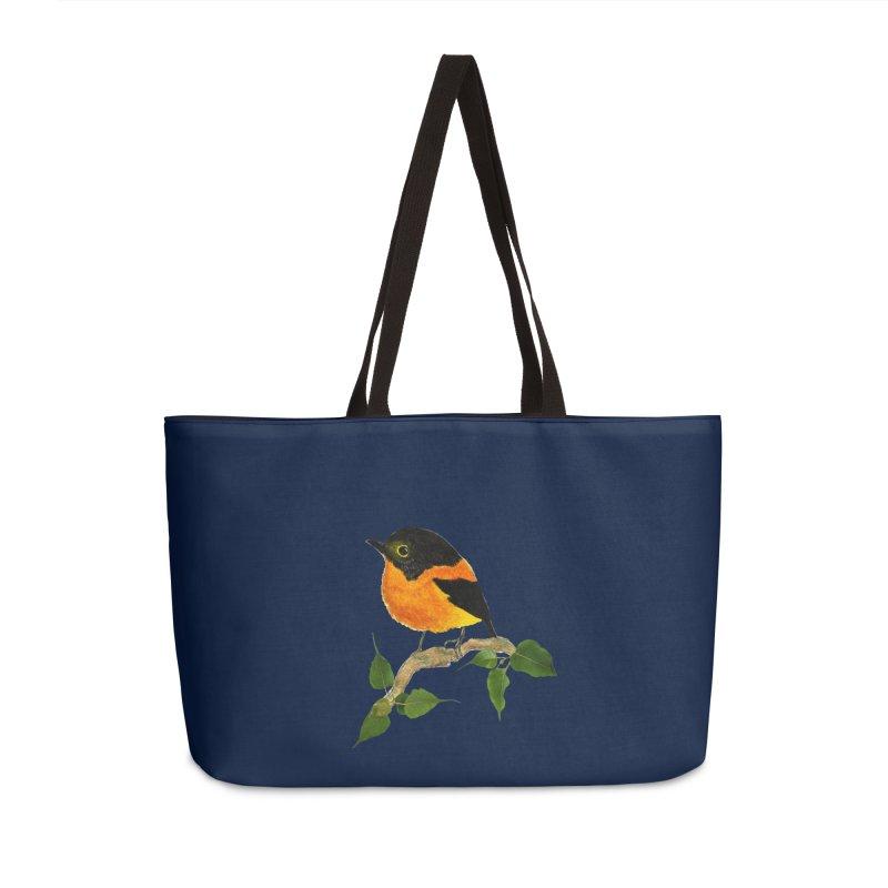Orange FlyCatcher Accessories Weekender Bag Bag by Hue Hub