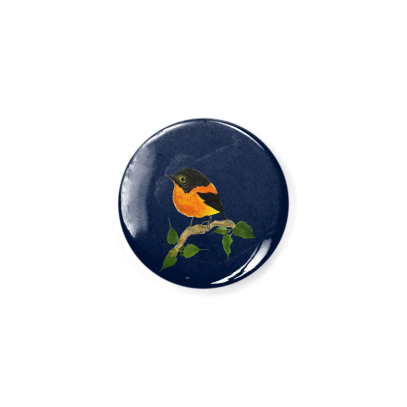 Orange FlyCatcher Accessories Button by Hue Hub