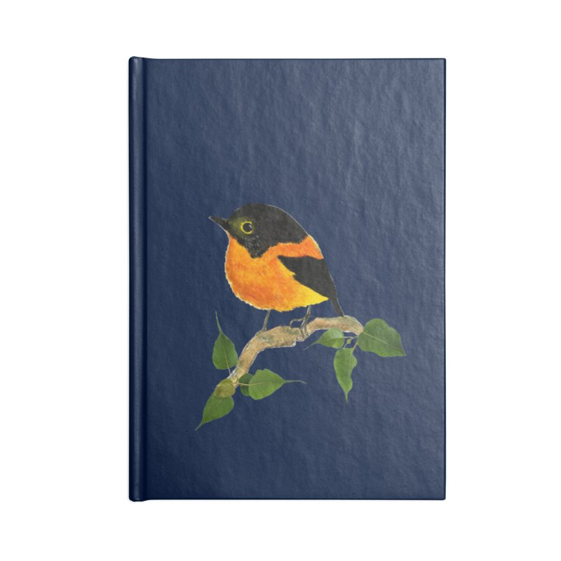 Orange FlyCatcher Accessories Lined Journal Notebook by Hue Hub