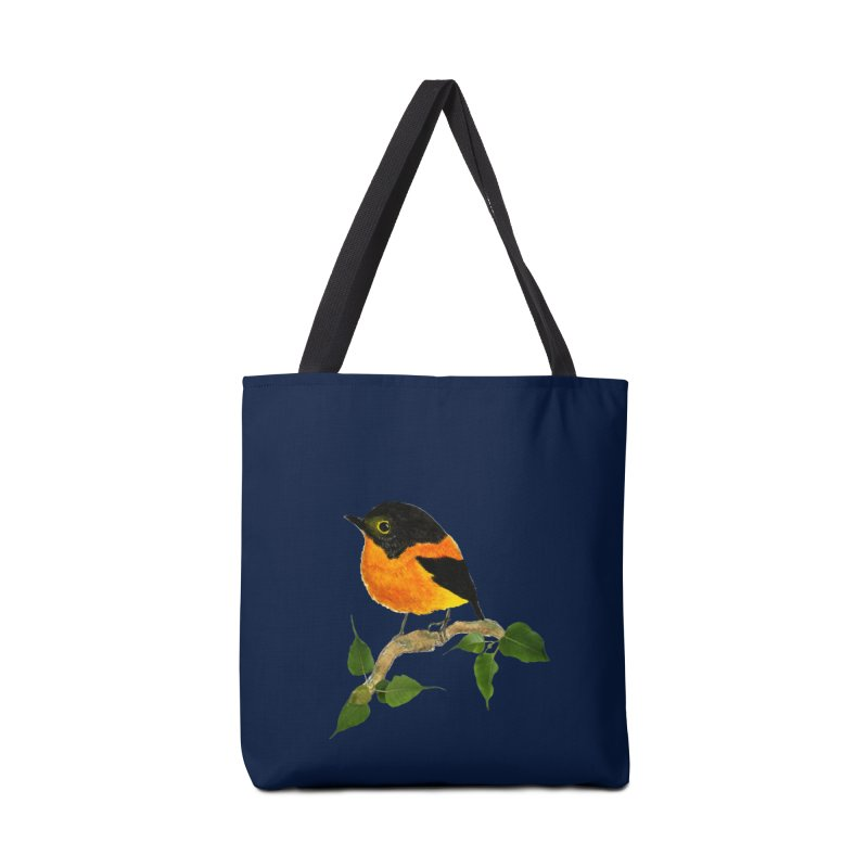 Orange FlyCatcher Accessories Tote Bag Bag by Hue Hub