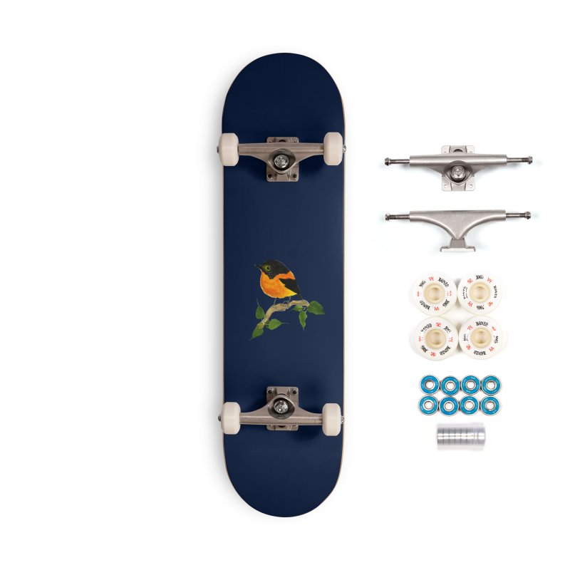 Orange FlyCatcher Accessories Complete - Premium Skateboard by Hue Hub