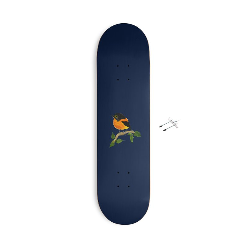 Orange FlyCatcher Accessories With Hanging Hardware Skateboard by Hue Hub