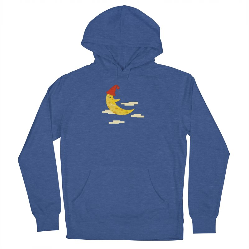 Cheesy Night Men's French Terry Pullover Hoody by Hue Hub