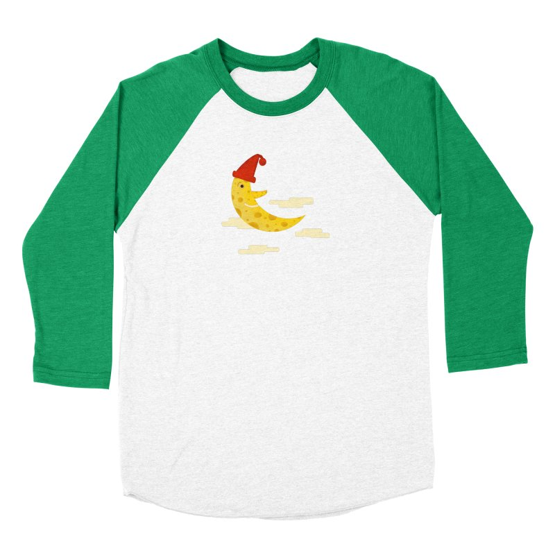 Cheesy Night Women's Baseball Triblend Longsleeve T-Shirt by Hue Hub