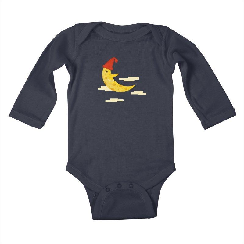 Cheesy Night Kids Baby Longsleeve Bodysuit by Hue Hub