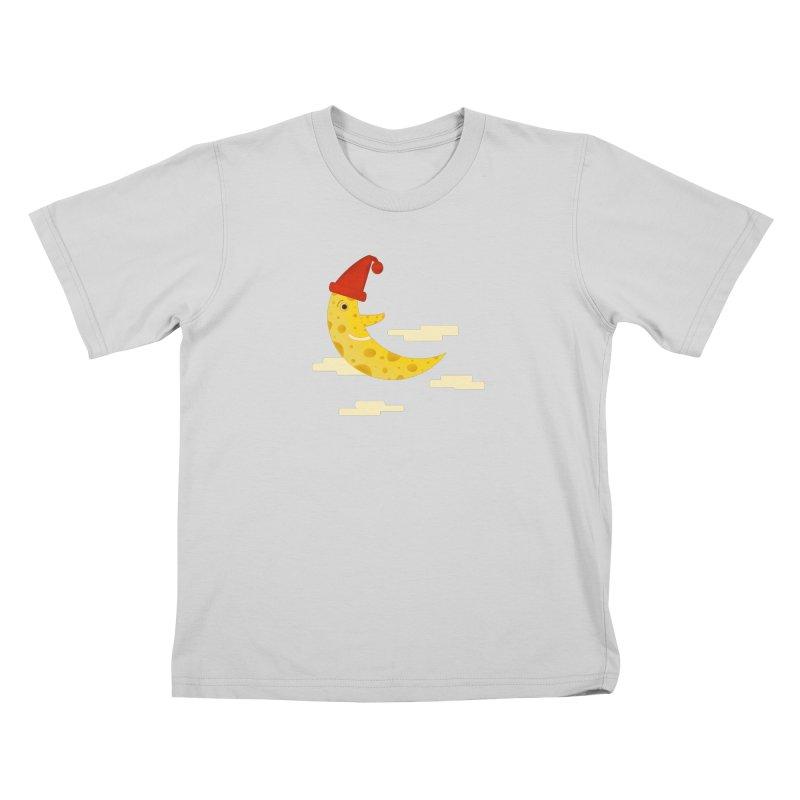 Cheesy Night Kids T-Shirt by Hue Hub