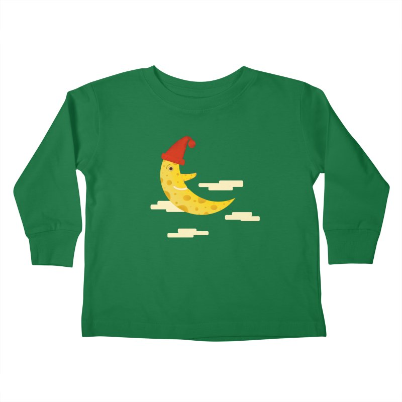 Cheesy Night Kids Toddler Longsleeve T-Shirt by Hue Hub
