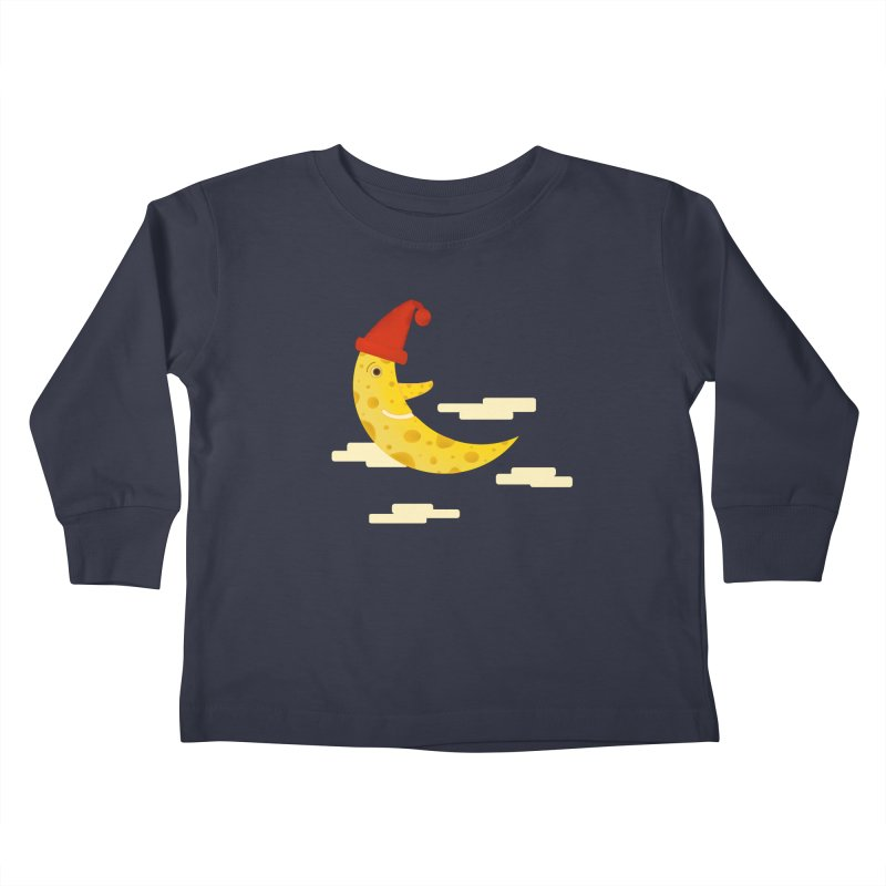 Cheesy Night Kids Toddler Longsleeve T-Shirt by Hue Hub