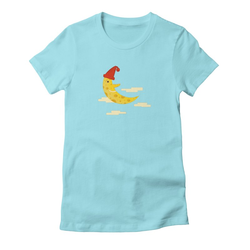 Cheesy Night Women's Fitted T-Shirt by Hue Hub