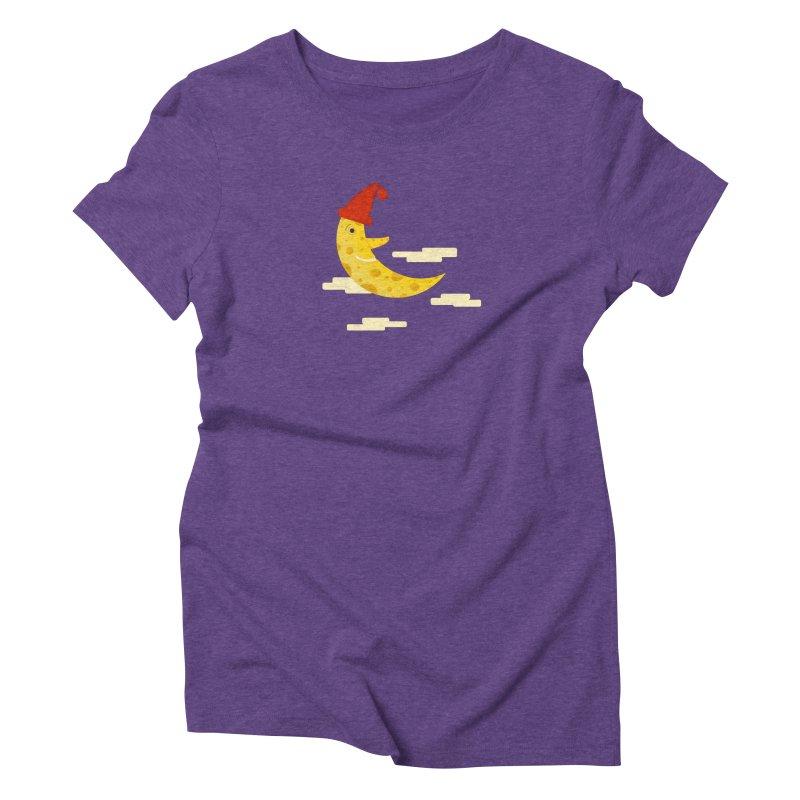 Cheesy Night Women's Triblend T-Shirt by Hue Hub
