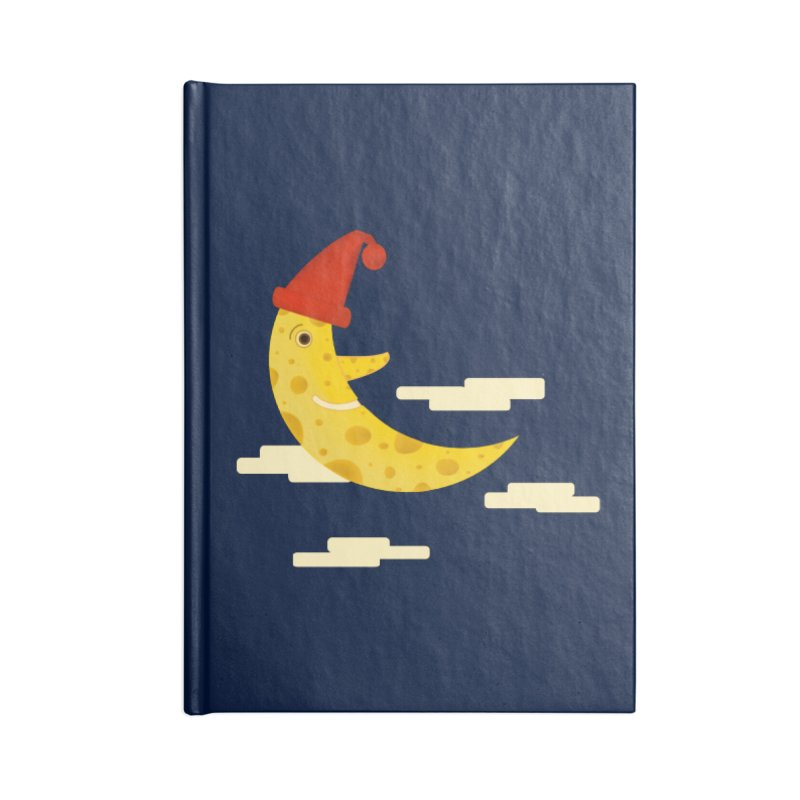 Cheesy Night Accessories Blank Journal Notebook by Hue Hub