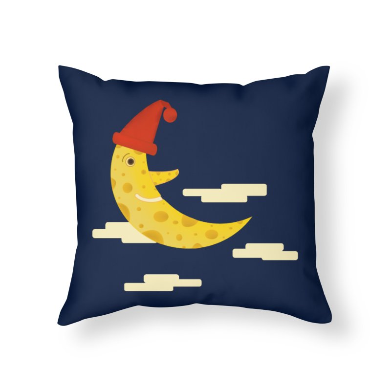 Cheesy Night Home Throw Pillow by Hue Hub