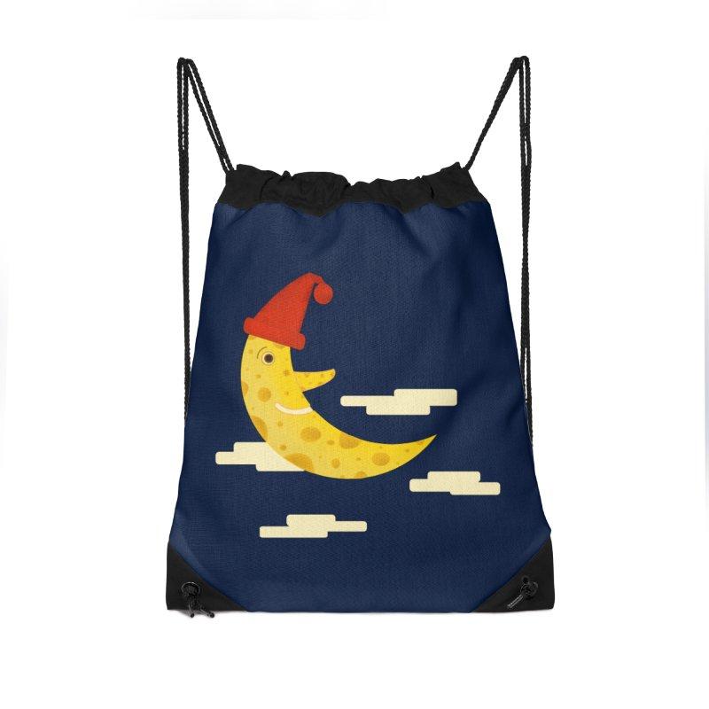 Cheesy Night Accessories Drawstring Bag Bag by Hue Hub