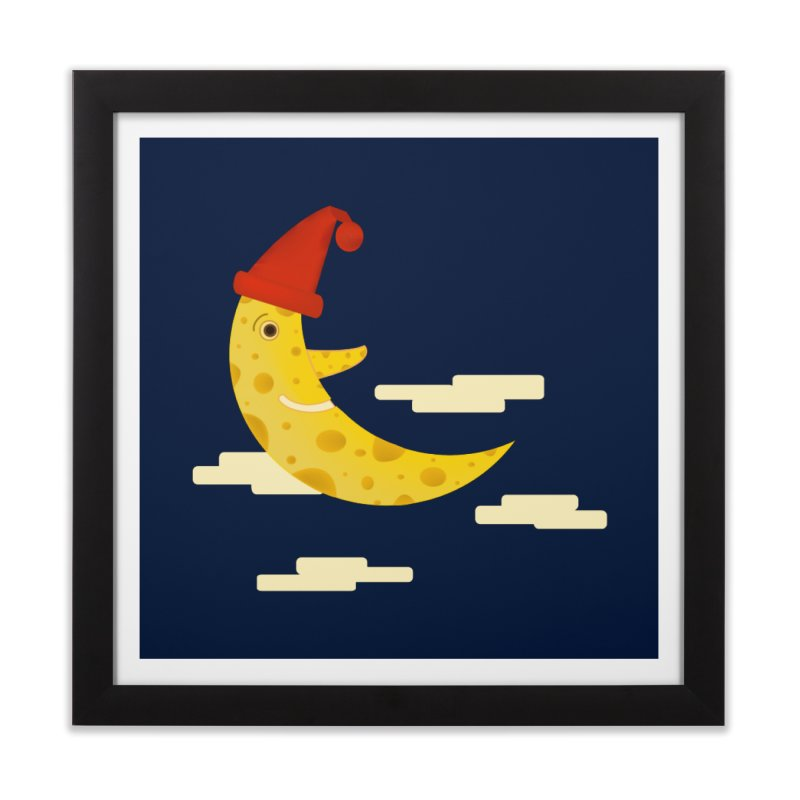 Cheesy Night Home Framed Fine Art Print by Hue Hub