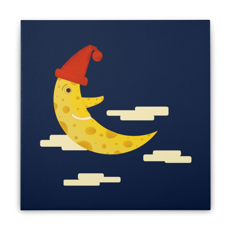 Cheesy Night Home Stretched Canvas by Hue Hub