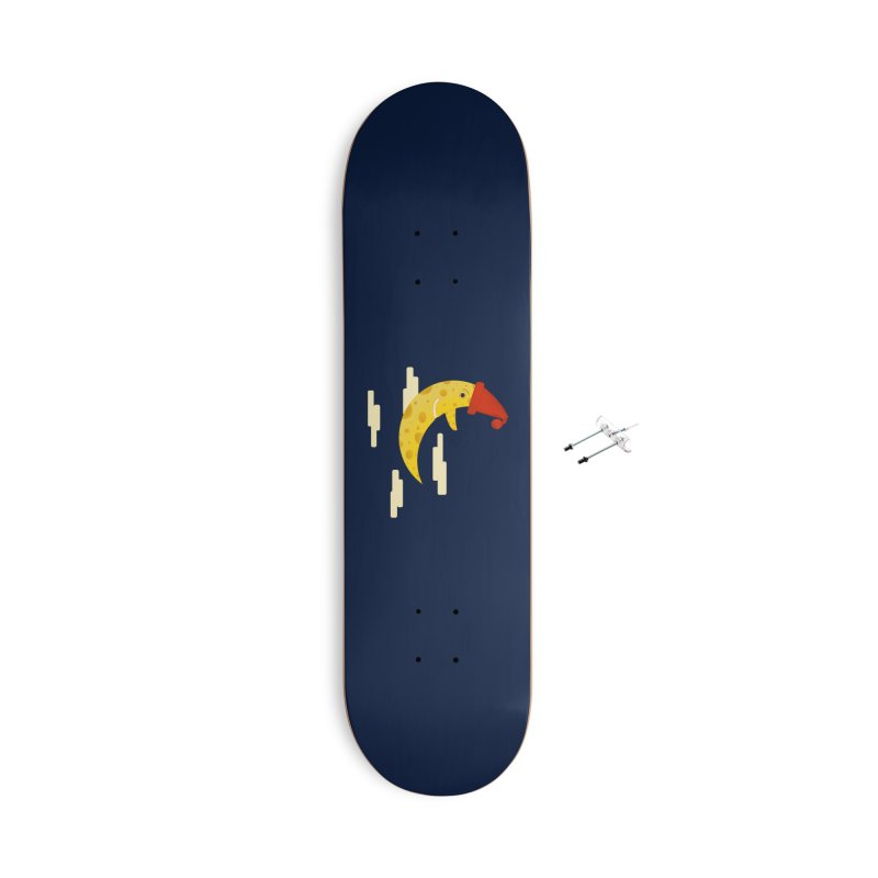 Cheesy Night Accessories With Hanging Hardware Skateboard by Hue Hub