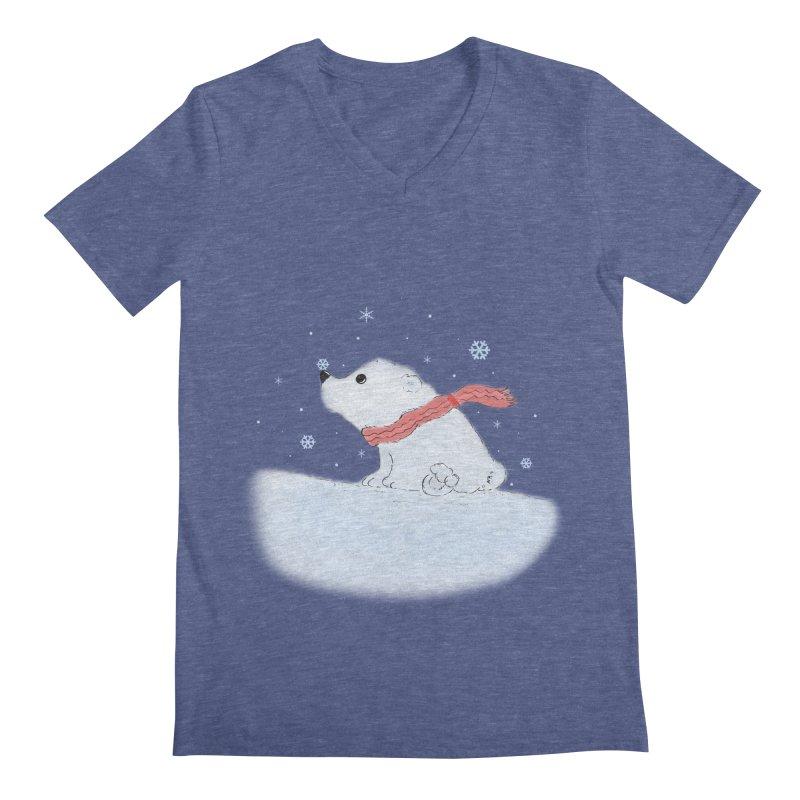 Polar babe Men's Regular V-Neck by Hue Hub
