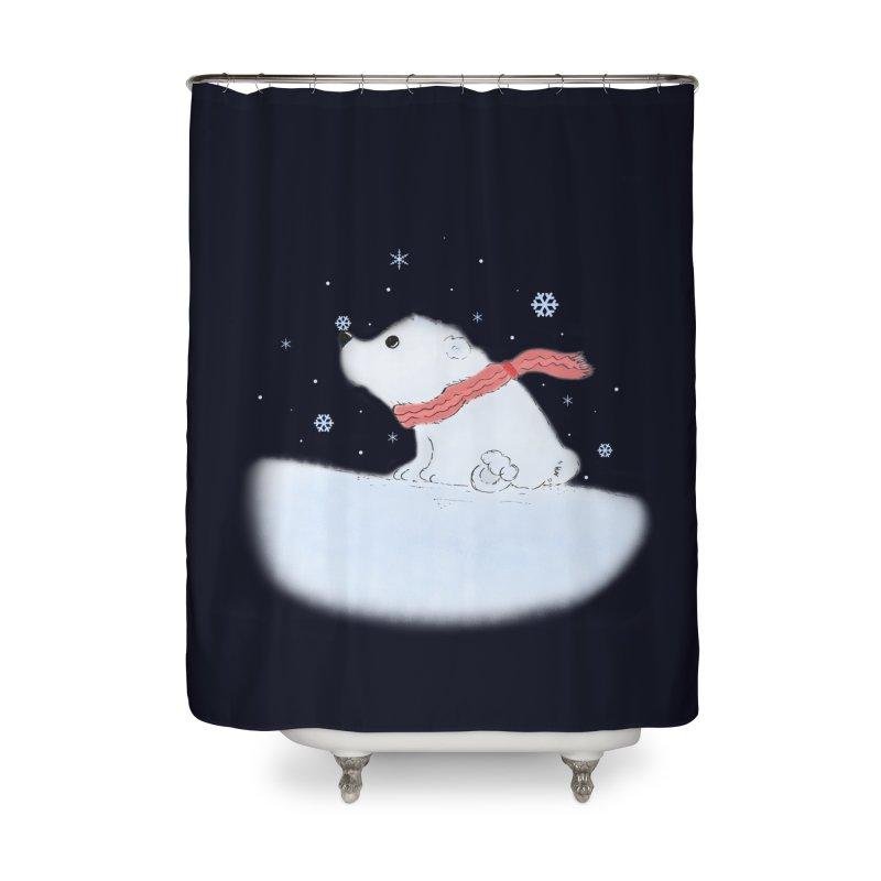 Polar babe Home Shower Curtain by Hue Hub