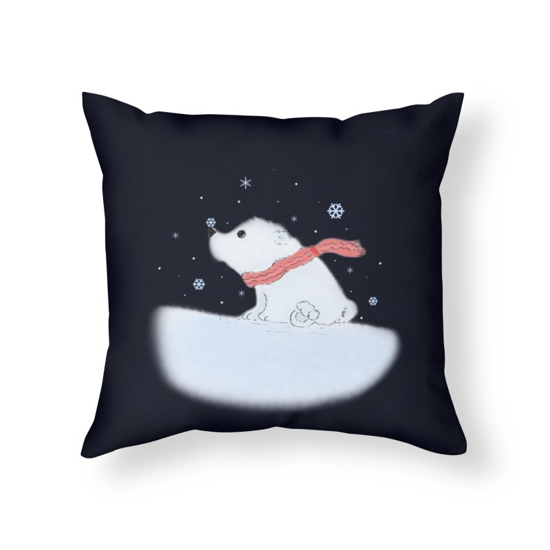 Polar babe Home Throw Pillow by Hue Hub
