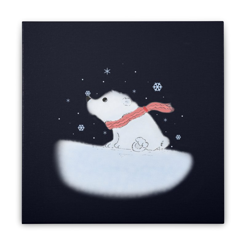 Polar babe Home Stretched Canvas by Hue Hub