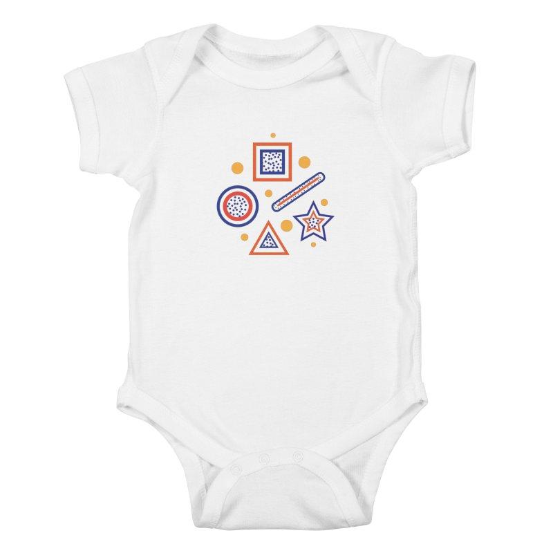 Geometry Kids Baby Bodysuit by Hue Hub