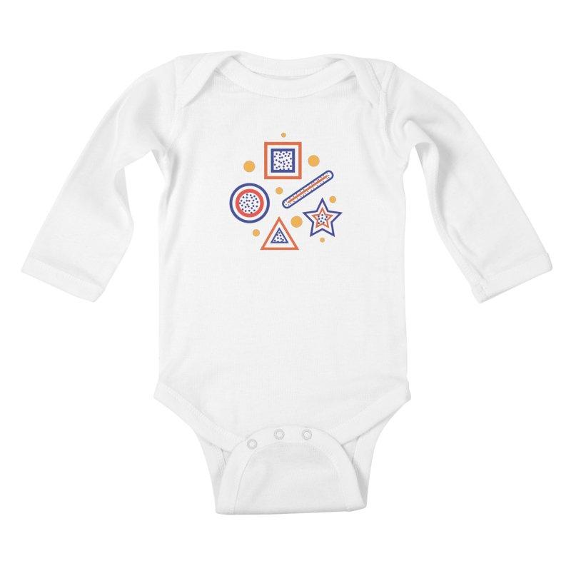 Geometry Kids Baby Longsleeve Bodysuit by Hue Hub