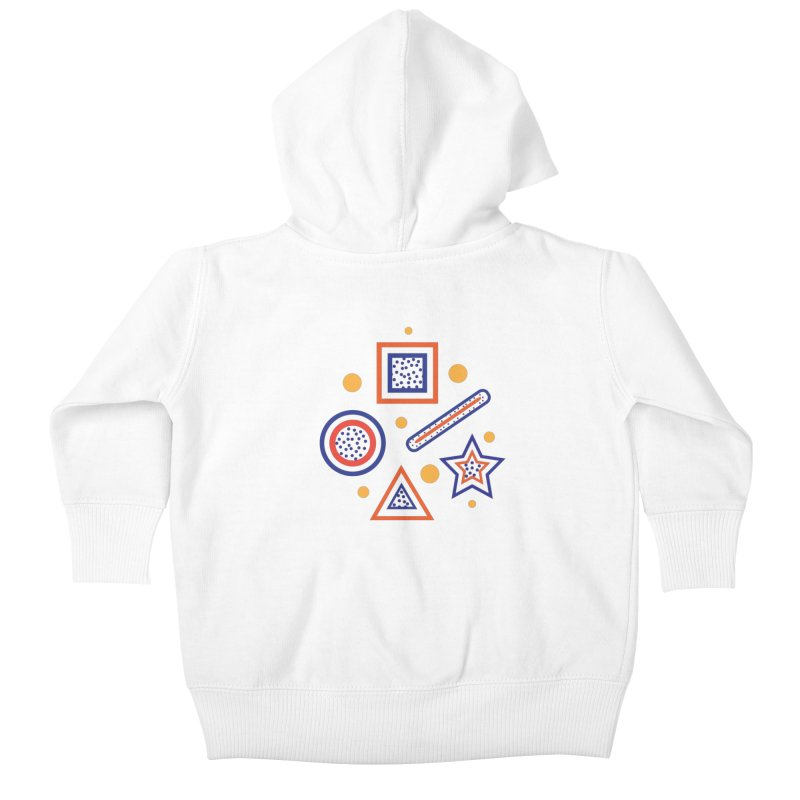 Geometry Kids Baby Zip-Up Hoody by Hue Hub