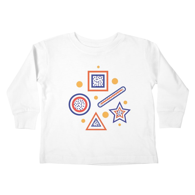 Geometry Kids Toddler Longsleeve T-Shirt by Hue Hub