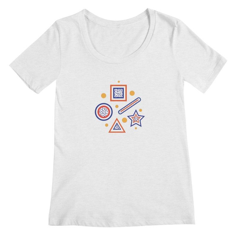 Geometry Women's Regular Scoop Neck by Hue Hub