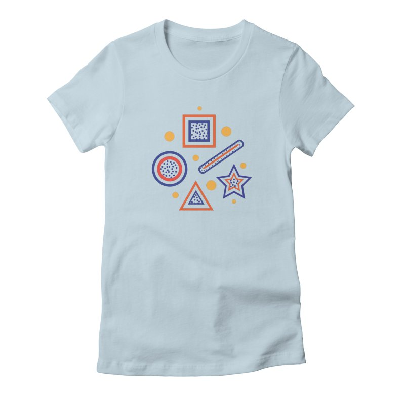 Geometry Women's Fitted T-Shirt by Hue Hub