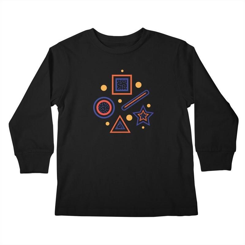 Geometry Kids Longsleeve T-Shirt by Hue Hub