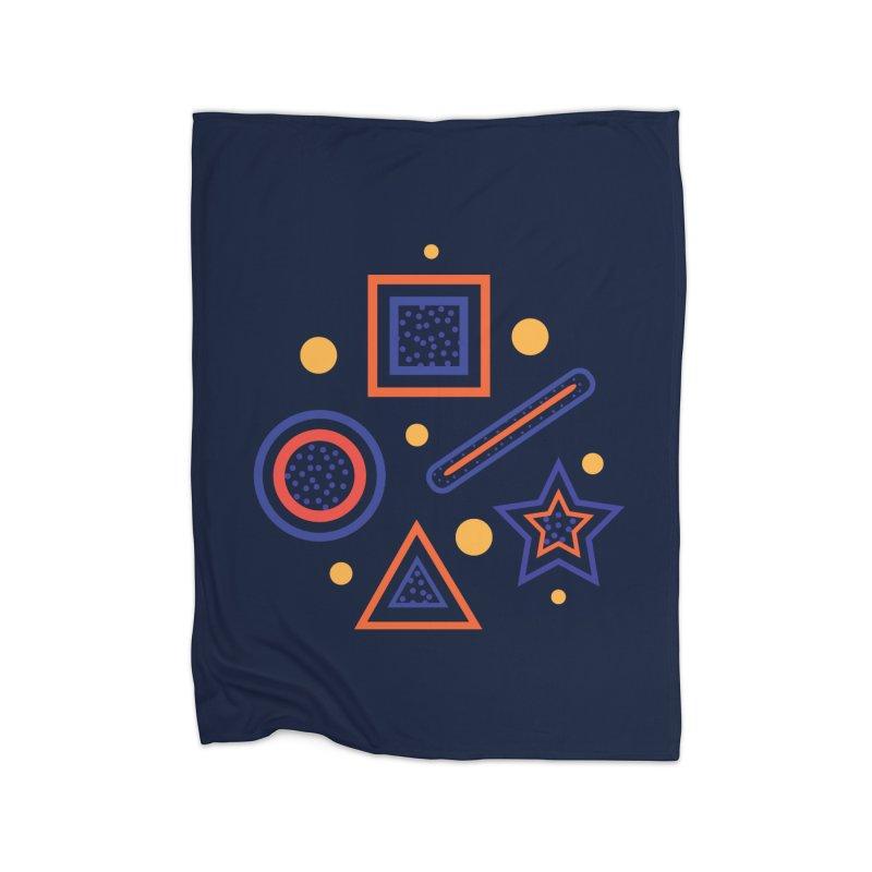 Geometry Home Fleece Blanket Blanket by Hue Hub