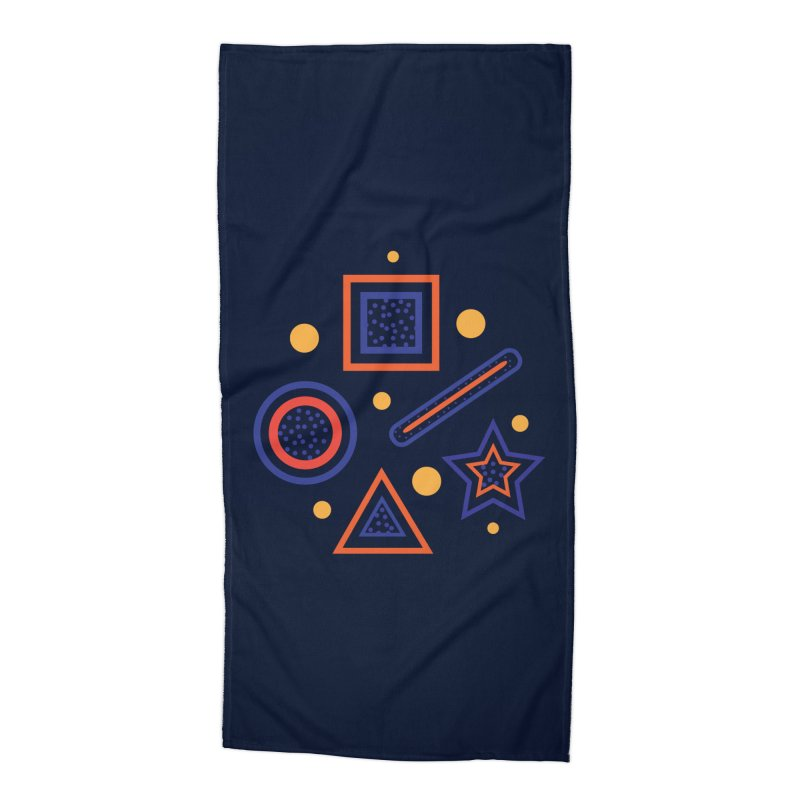 Geometry Accessories Beach Towel by Hue Hub