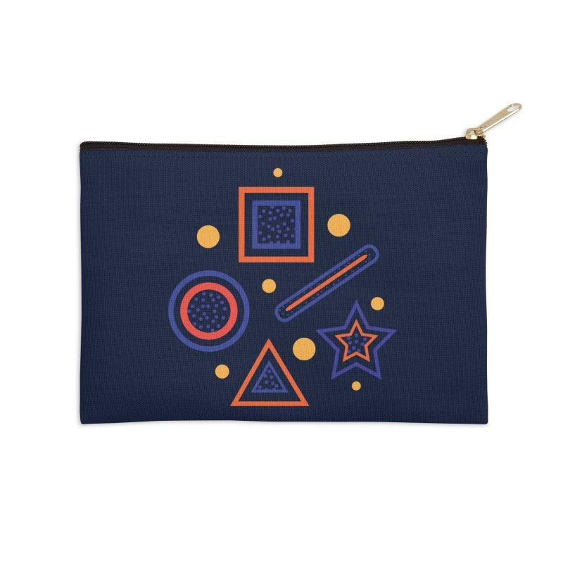 Geometry Accessories Zip Pouch by Hue Hub