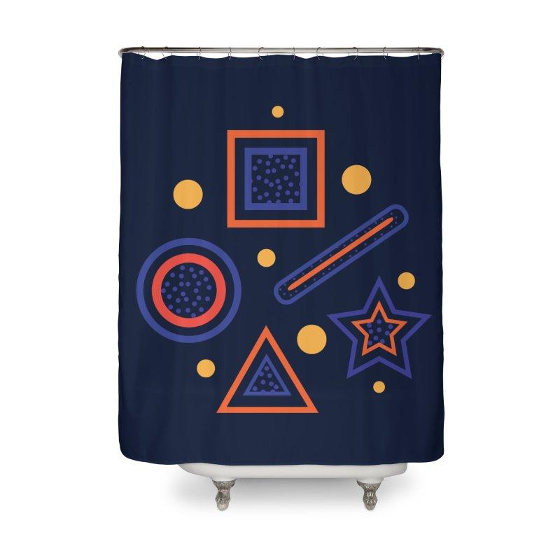 Geometry Home Shower Curtain by Hue Hub