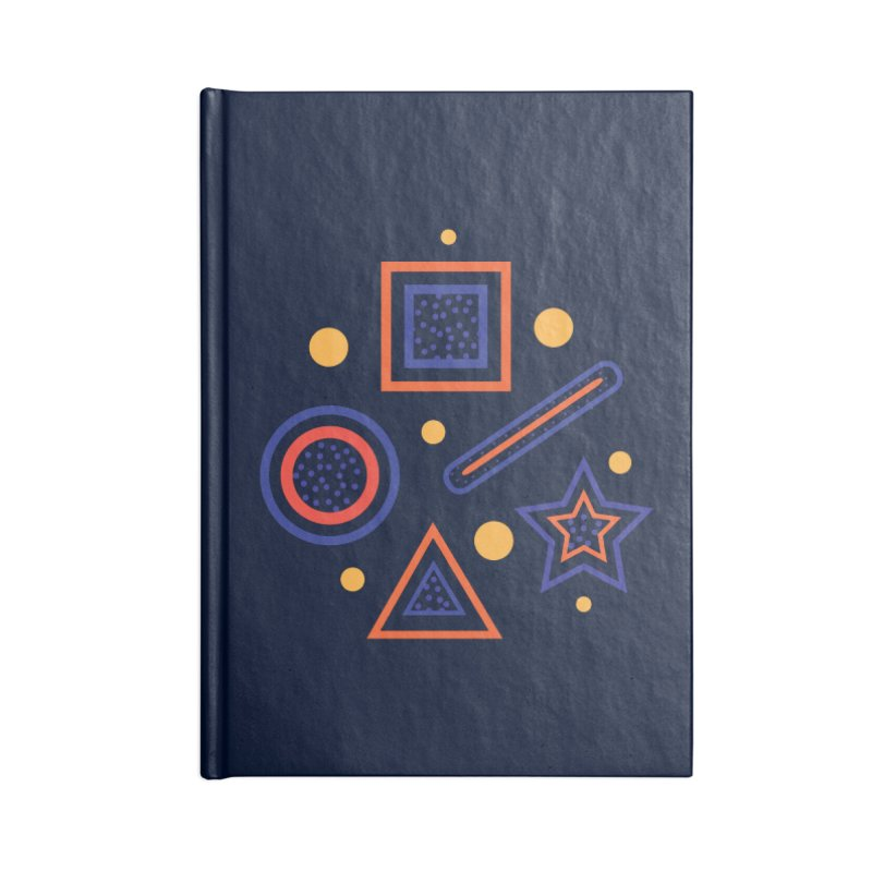 Geometry Accessories Lined Journal Notebook by Hue Hub