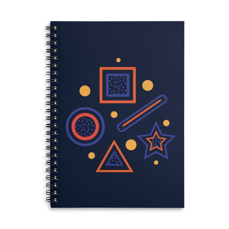 Geometry Accessories Lined Spiral Notebook by Hue Hub