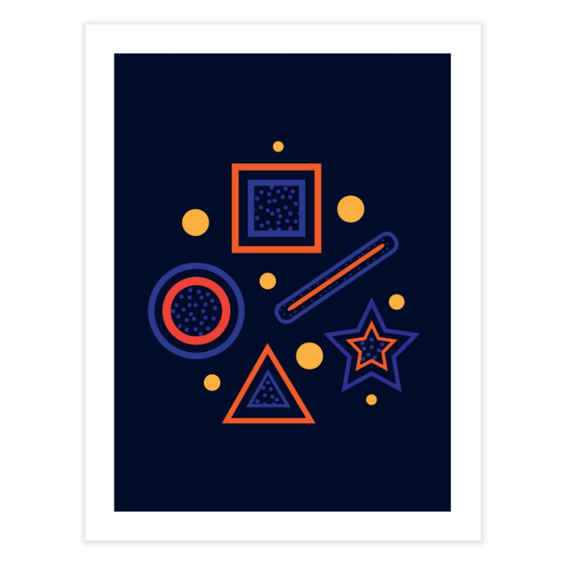 Geometry Home Fine Art Print by Hue Hub