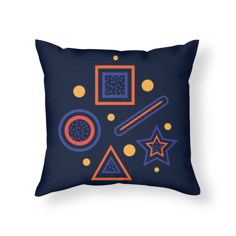 Geometry Home Throw Pillow by Hue Hub