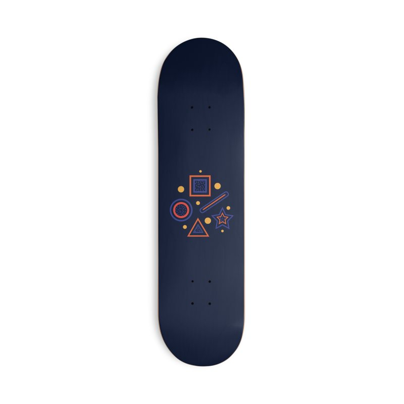 Geometry Accessories Deck Only Skateboard by Hue Hub